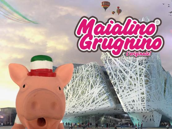 Maialino I love Italy selfie ad Expo