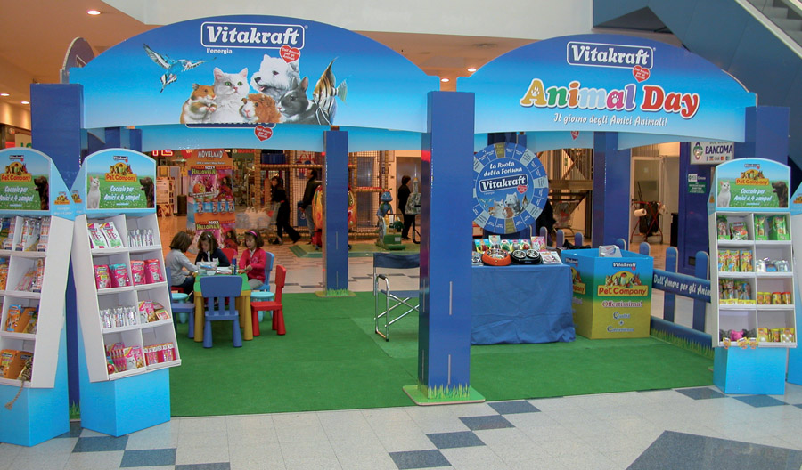 Animal Day stand dentro punto vendita